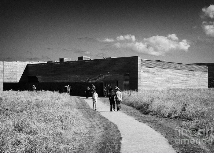 Visitors Greeting Card featuring the photograph visitors centre at Culloden moor battlefield site highlands scotland by Joe Fox