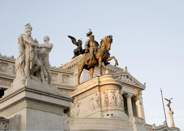 Vittorio Greeting Card featuring the photograph Vittoriano. Monument To Victor Emmanuel II. Rome by Bernard Jaubert