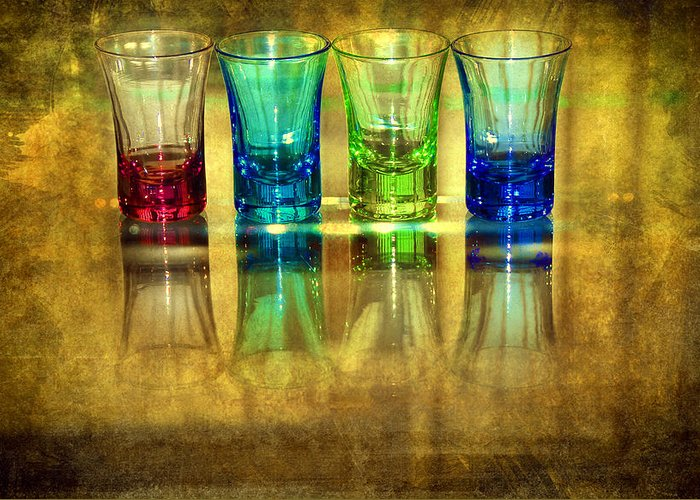 Advocate Greeting Card featuring the photograph Vodka Glasses by Svetlana Sewell