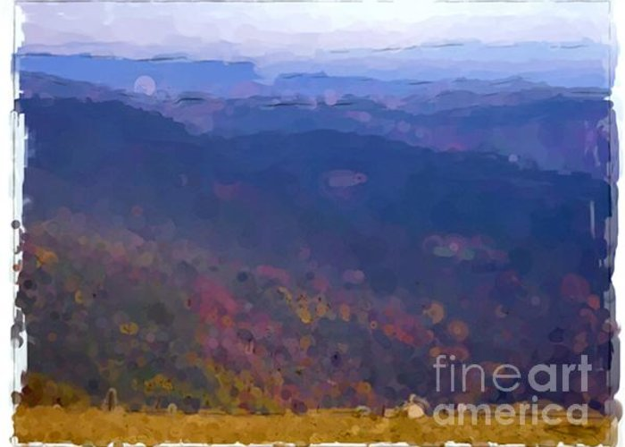 Landscapes Greeting Card featuring the painting Vosges - France by Franck Guarinos
