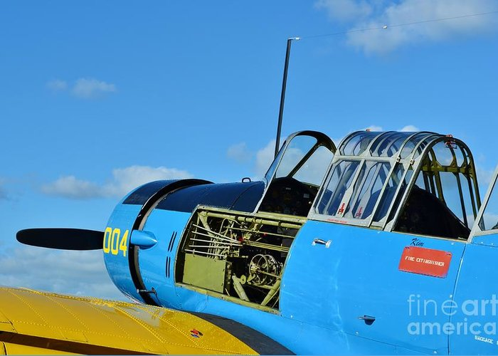 Vultee Bt-13 Valiant Greeting Card featuring the photograph Vultee Bt-13 Valiant by Lynda Dawson-Youngclaus