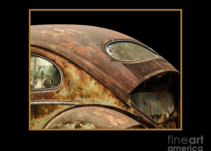 Vw Greeting Card featuring the photograph Vw Rust Bug by Nancy Greenland