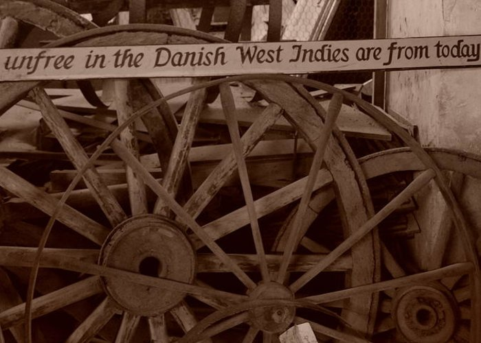 wagon Wheels Greeting Card featuring the photograph Wagon Wheels Of St. Croix by Dennis Stein