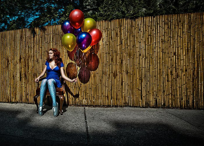 Balloons Greeting Card featuring the photograph Waiting For by Artur Gataulin