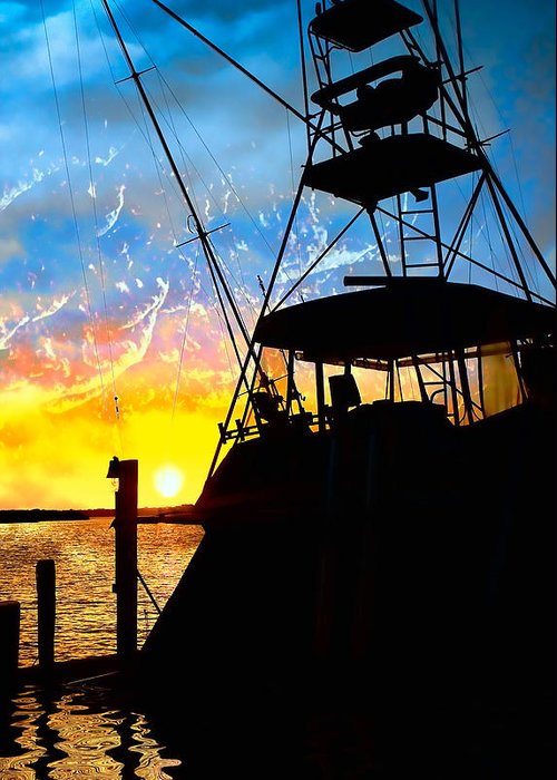 Fishing Greeting Card featuring the photograph Waiting For Daybreak by Stephen Warren