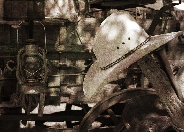 Cowboy Greeting Card featuring the photograph Waiting For The Cowboy by Toni Hopper
