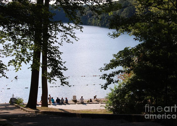 Walden Pond Greeting Card featuring the photograph Walden Pond by John Small