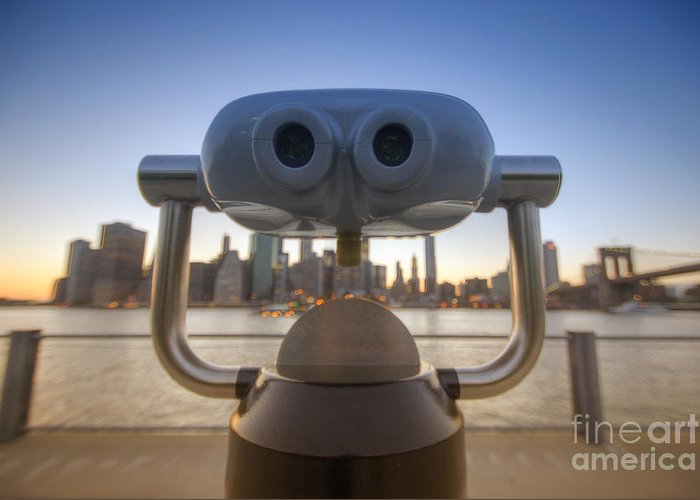 Big Apple Greeting Card featuring the photograph Wall E by Yhun Suarez