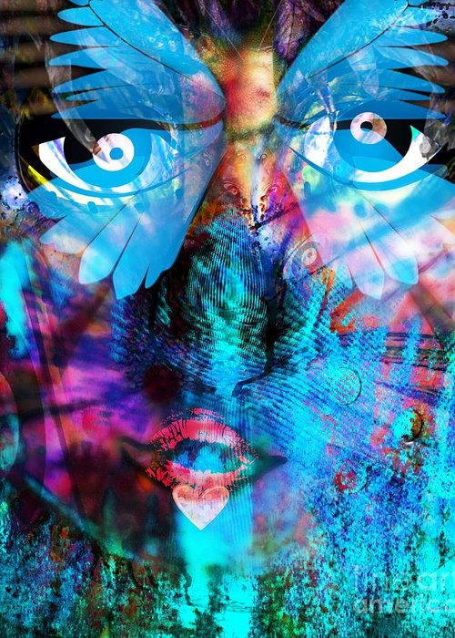 Fania Simon Greeting Card featuring the digital art Wandering Thoughts - Untitled Desire by Fania Simon