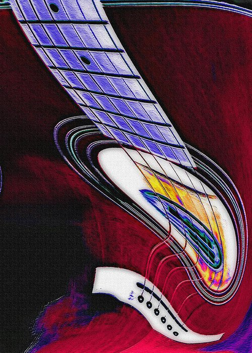 Guitar Greeting Card featuring the photograph Warped Music by Steve Ohlsen