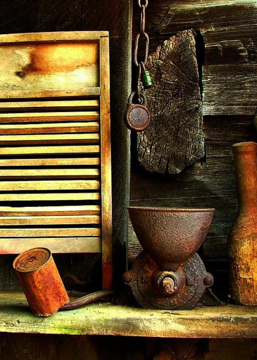 Old Washboards Greeting Card featuring the photograph Washboard Still Life by Julie Dant
