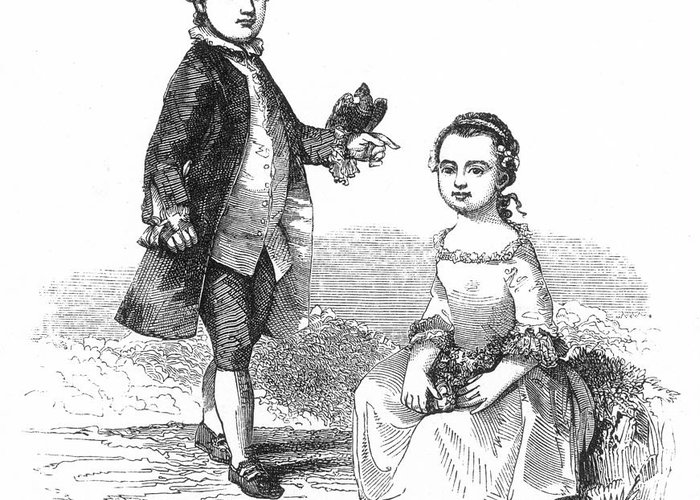 1757 Greeting Card featuring the photograph Washingtons Stepchildren by Granger