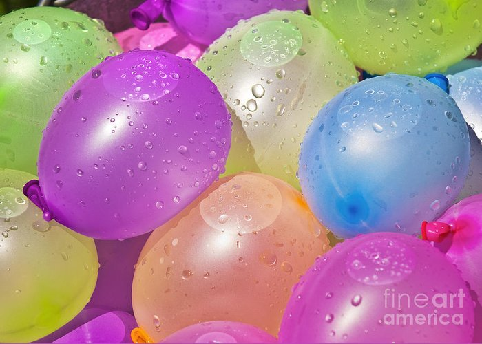 Balloons Greeting Card featuring the photograph Water Balloons by Patrick M Lynch