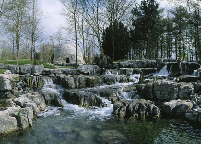Bog Greeting Card featuring the photograph Water Flowing In A Garden, St. Fiachras by The Irish Image Collection