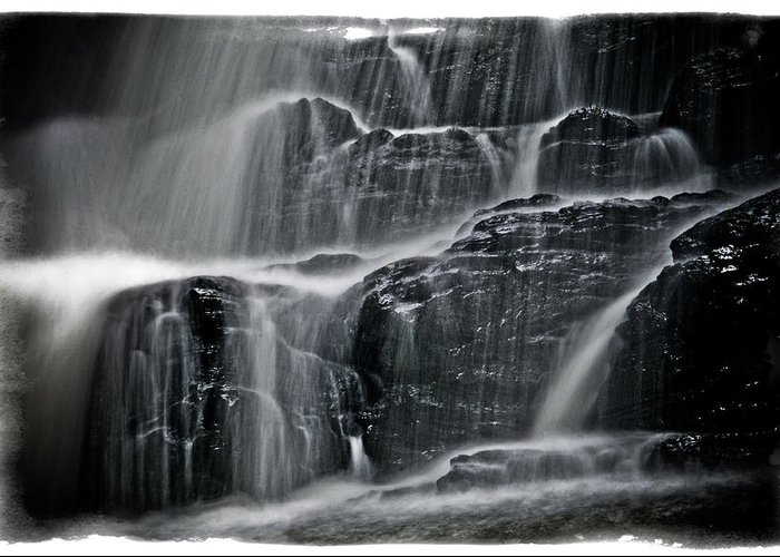 Landscape Greeting Card featuring the photograph Water Over Wahconah Falls by Mike Martin
