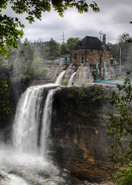 Ausable Chasm Greeting Card featuring the photograph Water Power Generator by Kean Poh Chua