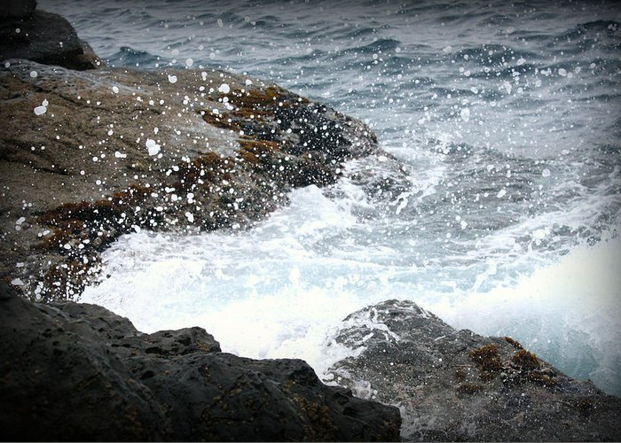 Water Greeting Card featuring the photograph Water Splash by Kevin Flynn