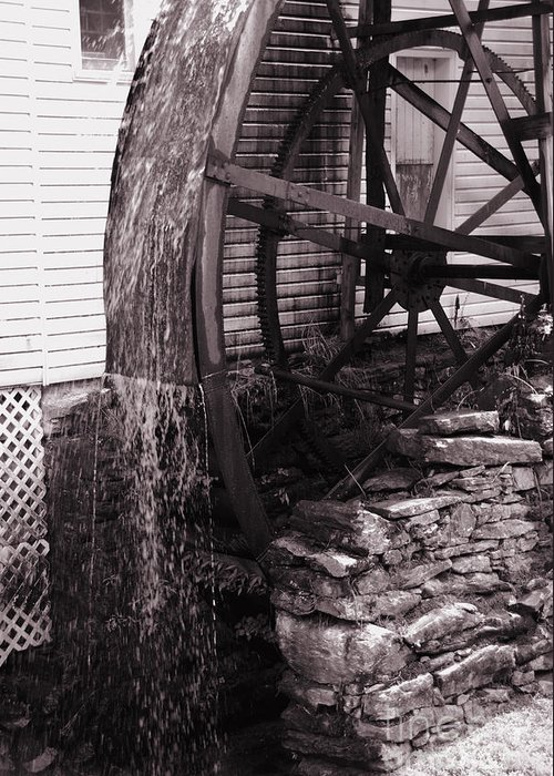 Mill Greeting Card featuring the photograph Water Wheel Old Mill Cherokee North Carolina by Susanne Van Hulst