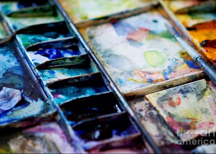 Watercolors Greeting Card featuring the photograph Watercolors by Kim Fearheiley