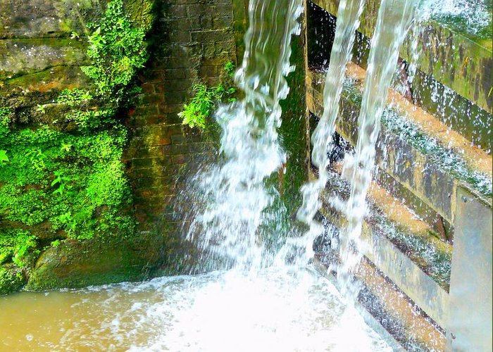Water Greeting Card featuring the photograph Waterfall by John Jones