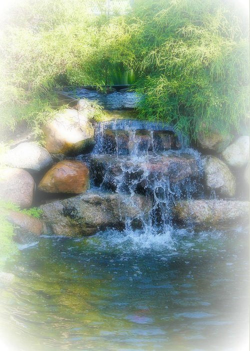 Water Greeting Card featuring the photograph Waterfall by Rebecca Frank
