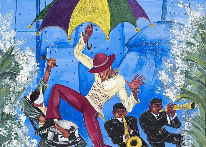 New Orleans Greeting Card featuring the painting ''we Survived Katrina'' by Mccormick Arts