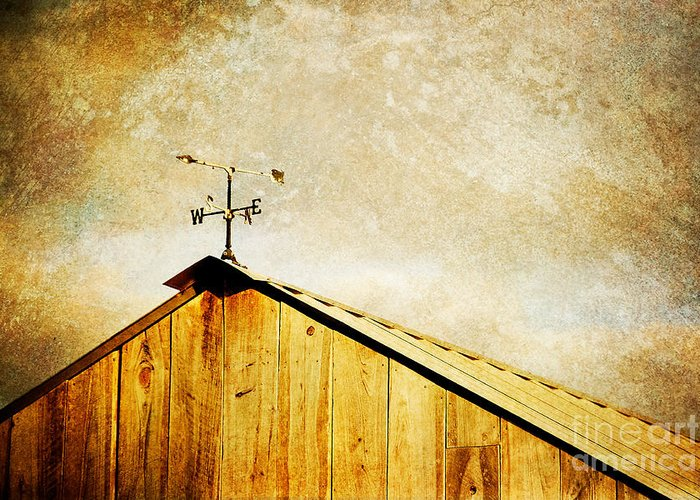 Weathervane Greeting Card featuring the photograph Weathervane by Joan McCool