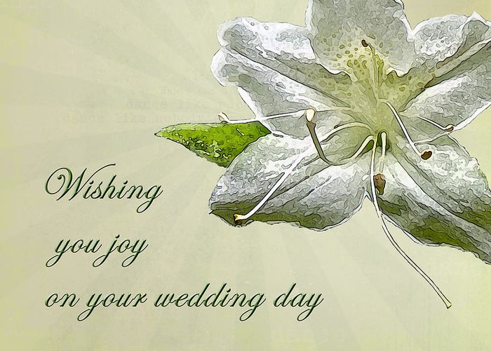 Wedding Greeting Cards.Wedding Wishes Card White Azalea Greeting Card