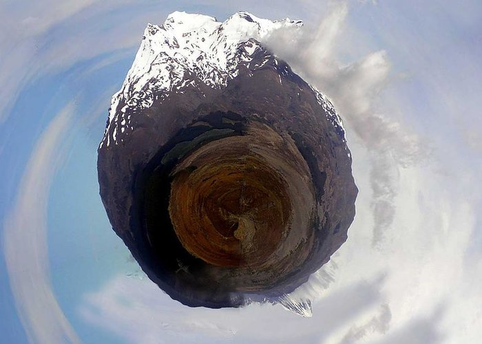 Wee Planet Greeting Card featuring the photograph Wee Tongariro Volcanoes by Nikki Marie Smith