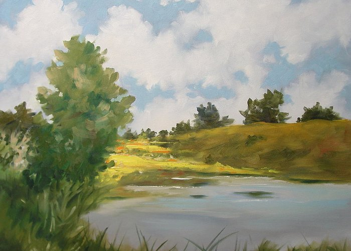 Landscape Greeting Card featuring the painting Welcome Home by Marlene Gremillion