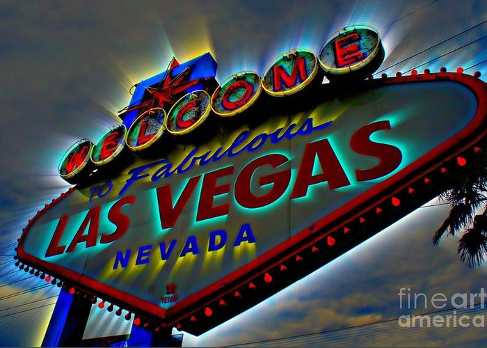 Las Vegas Greeting Card featuring the photograph Welcome To Las Vegas by Kevin Moore