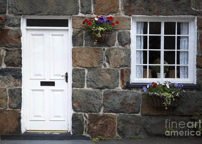 Architecture Greeting Card featuring the photograph Welsh Cottage Detail by Jane Rix