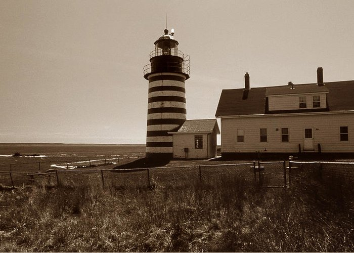 West Quoddy Light Greeting Card featuring the photograph West Quoddy Lighthouse by Skip Willits