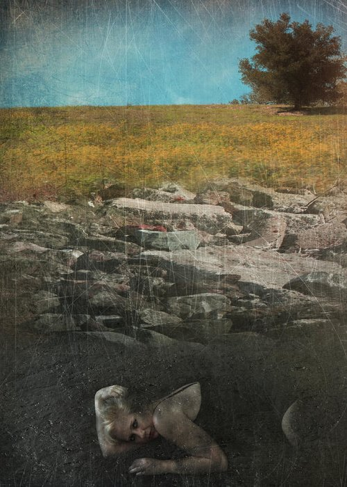 Woman Greeting Card featuring the photograph What Lies Below by Laurie Search