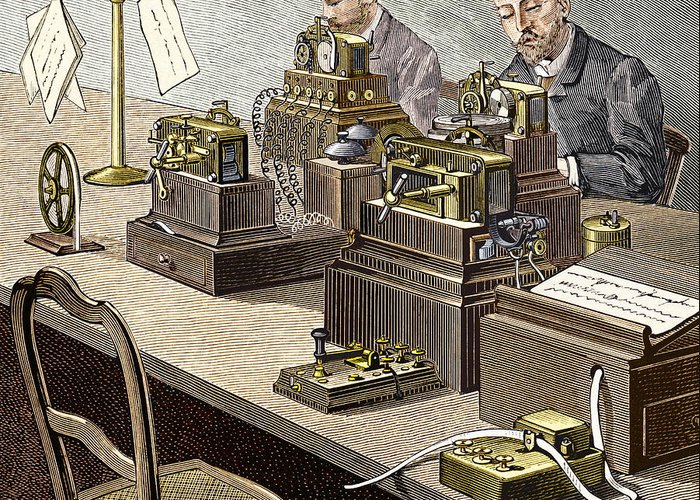 Wheatstone Greeting Card featuring the photograph Wheatstone Telegraph System by Sheila Terry