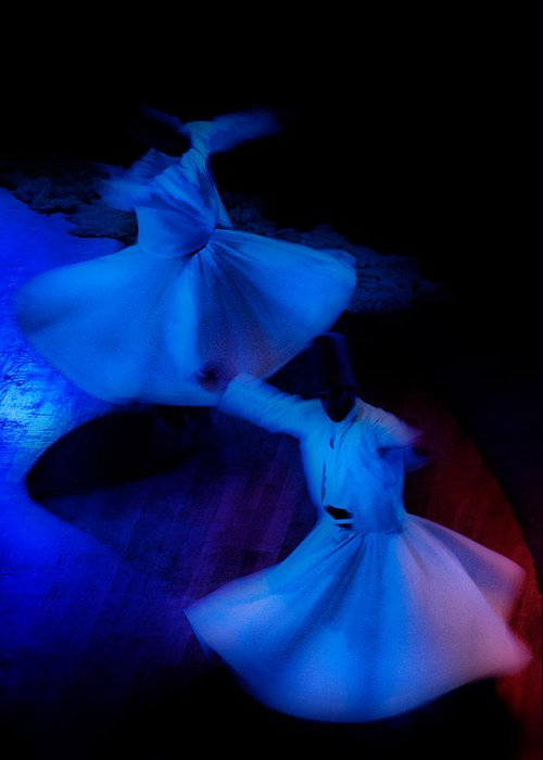 Mistic Greeting Card featuring the photograph Whirling Dervish - 3 by Okan YILMAZ