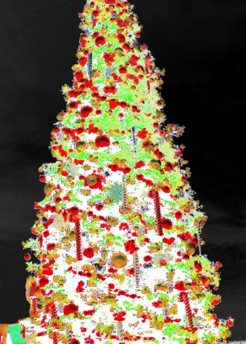 White Christmas Greeting Card featuring the digital art White Christmas by J Burns