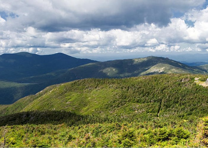 White Mountains Greeting Card featuring the photograph White Mountains New Hampshire Panorama by Stephanie McDowell