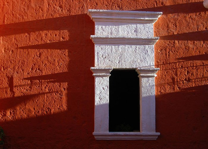 Monastery Greeting Card featuring the photograph White Window by RicardMN Photography
