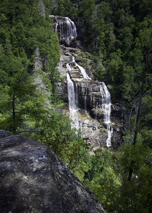 Waterfall Greeting Card featuring the photograph Whitewater Falls by Rob Travis