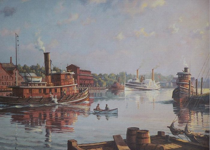 William G Muller Greeting Card featuring the photograph William G Muller Rondout Creek by Jake Hartz