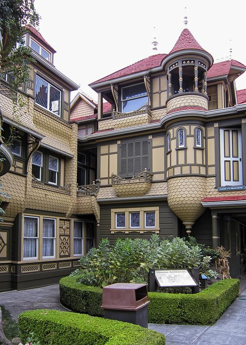 Winchester Greeting Card featuring the photograph Winchester House - Door To Nowhere by Daniel Hagerman