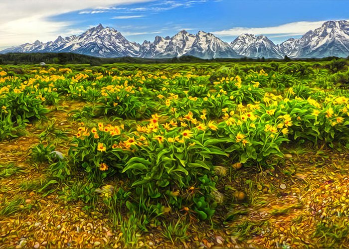 Wind River Range Greeting Card featuring the photograph Wind River Range In West Central Wyoming - 03 by Gregory Dyer