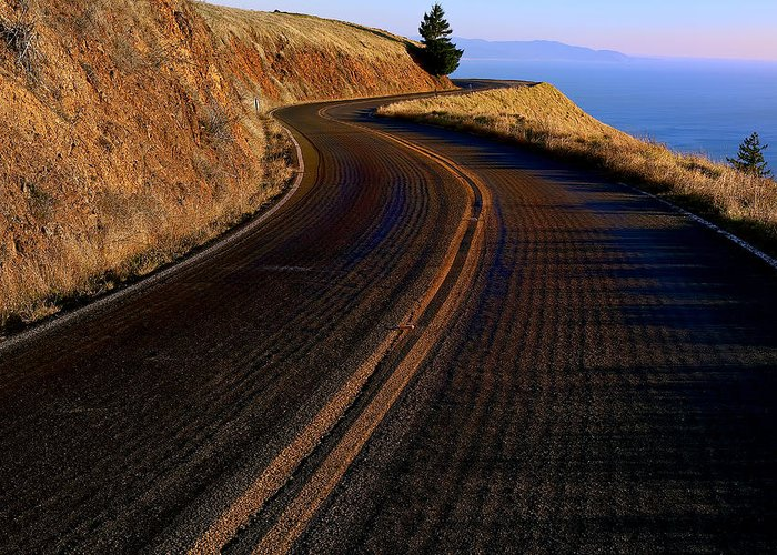 Road Greeting Card featuring the photograph Winding Road by Garry Gay