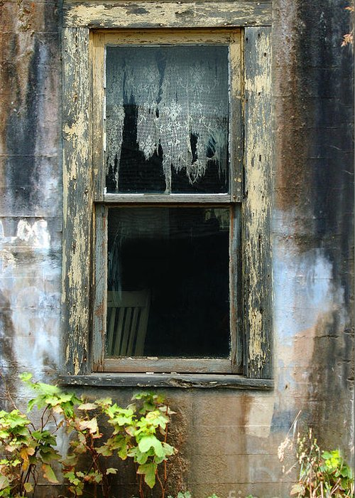 Window In Old Wall Greeting Card featuring the photograph Window In Old Wall by Jill Battaglia