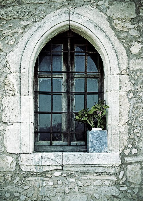 Windows Greeting Card featuring the photograph Window Of A Chapel by Joana Kruse