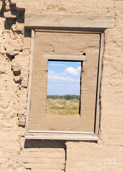 Rustic Greeting Card featuring the photograph Window To The Past by Sean McGuire