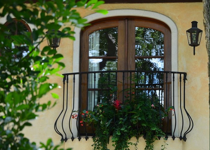 Window Greeting Card featuring the photograph Window To The Soul by Kathy Lewis