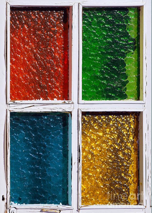 Abstract Greeting Card featuring the photograph Windows by Carlos Caetano