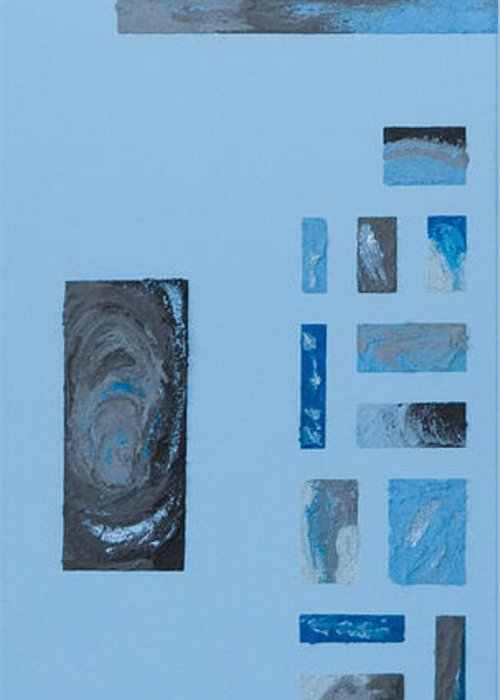 Hurricane Greeting Card featuring the mixed media Windows To Earth by Alison Quine